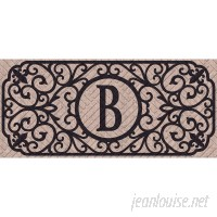 Charlton Home Atrakchi Filigree Monogram Embossed Sassafras Doormat CHRL6948