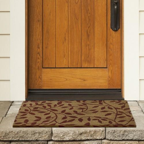 Charlton Home Godbold Leaves Coir Doormat CHRL8204