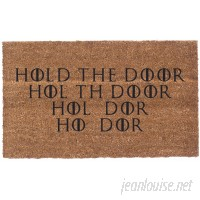 Coco Mats N More Hold the Door Vinyl Backed Doormat QZC1170