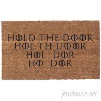 Coco Mats N More Hold the Door Vinyl Backed Doormat QZC1170