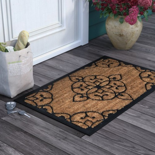 Darby Home Co Seppe Iron Gate Design Coir Doormat DRBH3803
