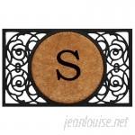 Fleur De Lis Living Francesca Circle Monogram Doormat FDLL1655