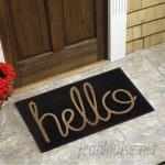 Red Barrel Studio Peterlee Hello Coir Doormat RBRS5907