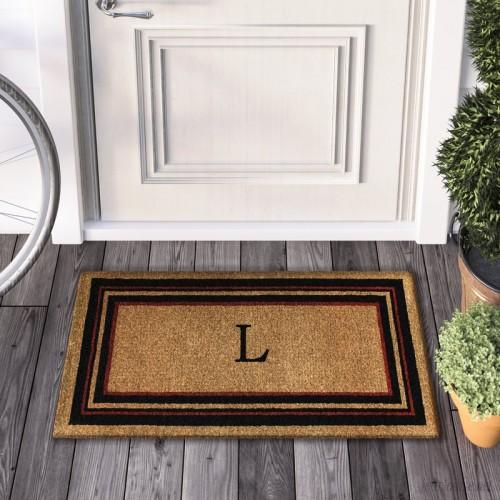 Three Posts Deforge Monogram Doormat TRPT3189