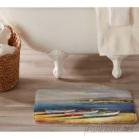 Home Fashion Designs Eliza Plush Memory Foam Anti-Fatigue Coastal Beach Theme Bath Rug HFAS1446