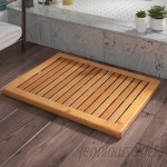 Langley Street Almonte Bamboo Floor Shower Mat Bath Rugs LGLY6385