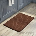Andover Mills Cary Anti-Fatigue Faux-Leather Kitchen Mat ADML2126