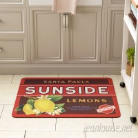 August Grove Molimo Sunside Lemons Kitchen Mat AGRV4840