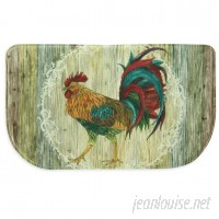 Bacova Guild Rooster Strut Memory Foam Slice Kitchen Mat BCGD1487