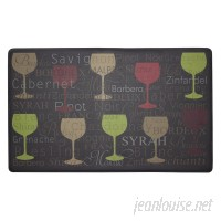 Chef Gear Wine Typography Anti-Fatigue Cushioned Chef Kitchen Mat CGER1037