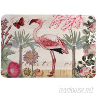 LauralHome Botanical Flamingo Mat LAOM1307