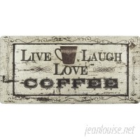 Nicole Miller Cook N Comfort Live Laugh Coffee Kitchen Mat ELLG1028