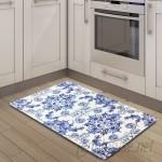 Nicole Miller Cook N Comfort Poppy Sketch Tile Kitchen Mat ELLG1036
