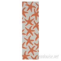 Beachcrest Home Solana Hand-Woven Orange Indoor/Outdoor Area Rug SEHO2964