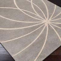 Ebern Designs Dewald Hand Woven Wool Gray/Cream Area Rug EBND7485