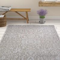 Ophelia Co. Kraatz Palmette Gray Indoor/Outdoor Area Rug CU7044