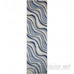 Orren Ellis Cherell Ivory/Blue Area Rug OREL6363