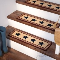 August Grove Brunswick Blue/Beige/Red Stair Tread ATGR8403