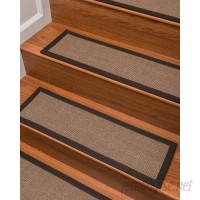 Bloomsbury Market Jacobson Sisal Carpet Brown Stair Tread BBMT2228