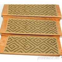 Bloomsbury Market Ratcliff Jute Back Indoor and Outdoor Carpet Camel Stair Tread BLMA3690