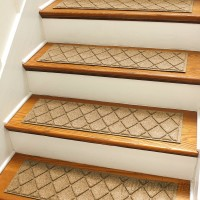 Bungalow Flooring Aqua Shield Gold Argyle Stair Tread WDK1641