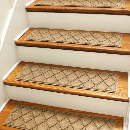 Bungalow Flooring Aqua Shield Gold Argyle Stair Tread WDK1641