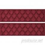 Darby Home Co Aqua Lindo Red/Black Argyle Stair Tread DABH2543