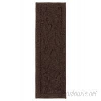 Darby Home Co Jeanette Accent Rug Chocolate Brown Stair Tread DBYH7139