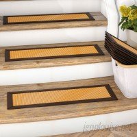Gracie Oaks Dawes Sisal Carpet Gold Stair Tread GRKS2259
