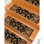 Natural Area Rugs Sydney Classic Persian Black Stair Tread NRU1519