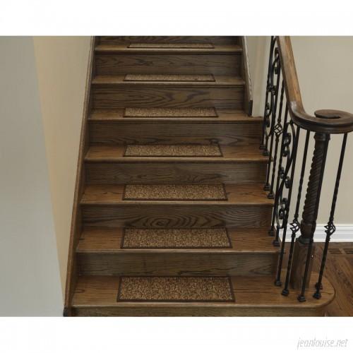 Ottomanson Escalier Brown Contemporary Solid Design Stair Tread OTTO1299