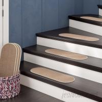 Winston Porter Gehlert Oval Dark Beige Stair Tread WNSP4675
