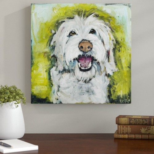 Andover Mills 'Smiley Dog' Painting Print on Wrapped Canvas ANDV1833
