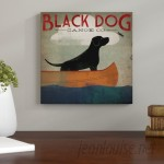 Andover Mills Black Dog Canoe Co. II Vintage Advertisement on Wrapped Canvas ANDO5279