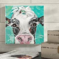 August Grove 'Oreo The Painted Cow' Wall Art AGTG2205