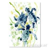Bay Isle Home 'Sea Turtles' Watercolor Painting Print BYIL2604
