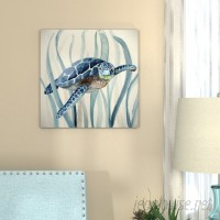 Bay Isle Home 'Turtle in Seagrass I' Oil Painting Print on Wrapped Canvas BAYI8265