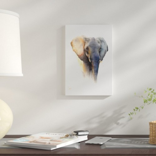 East Urban Home 'Elephant' Graphic Art Print on Canvas URBH9631