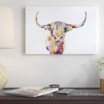 East Urban Home Highland Cow Painting Print on Wrapped Canvas ESHM7333