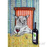Latitude Run 'Cat Tonkinese Wine' Painting Print on Wrapped Canvas LRUN7755