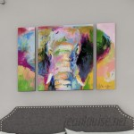 Latitude Run Elephant 2 by Richard Wallich 3 Piece Painting Print on Wrapped Canvas Set LTRN1794