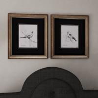 Three Posts Song Bird III / IV 2 Piece Framed Painting Print Set THPS2262