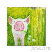 Trademark Art 'Pig' Print on Wrapped Canvas HYT82090
