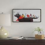Winston Porter 'Birds on Dog' Framed Painting Print on Canvas WNSP6664