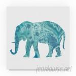 World Menagerie 'Boho Teal Elephant II' Acrylic Painting Print on Wrapped Canvas WRMG5921