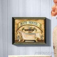 August Grove 'Bath House' Framed Graphic Art Print on Paper AGGR3084