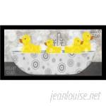 Buy Art For Less 'Duck Bath Poster' by Beth Albert Framed Graphic Art BYAR2891