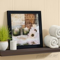 Charlton Home 'Relaxation I' by Patricia Pinto Framed Graphic Art Print on Paper in White/Brown CHRL2633