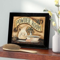 Charlton Home Powder Room Framed Graphic Art CHLH2671