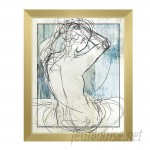 Click Wall Art 'Woman on Sky' Framed Graphic Art CCEE7442